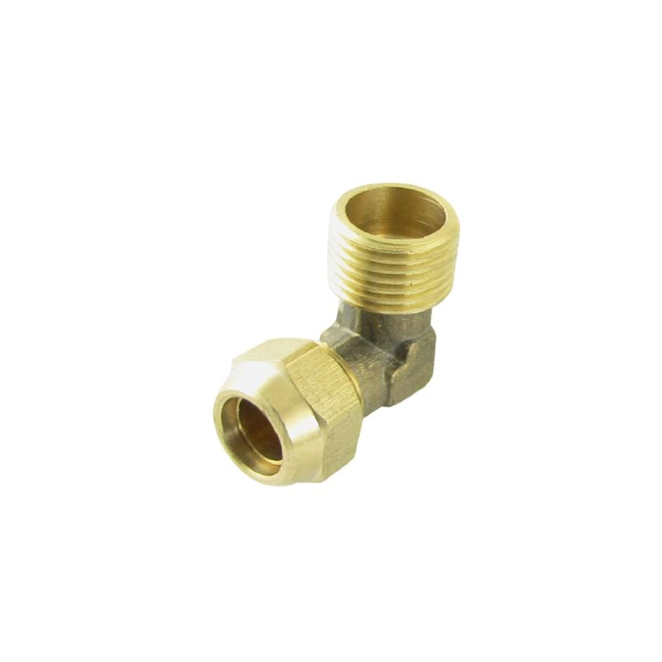 Amico Dual Thread Brass Pipe Tube Fitting Adapter Gold Tone