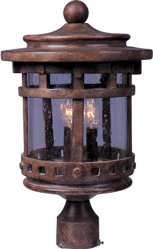 Outdoor Lamp Post Santa - 4