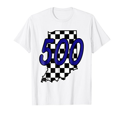 Flag Shirts Checkered (Indiana Racecar T Shirt Checkered Flag State)