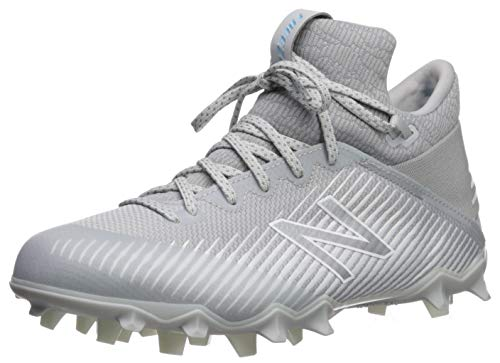 cf3697ffafe1 New Balance Men's Freeze V2 Agility Lacrosse Shoe, Grey/White-1, 7.5 2E US