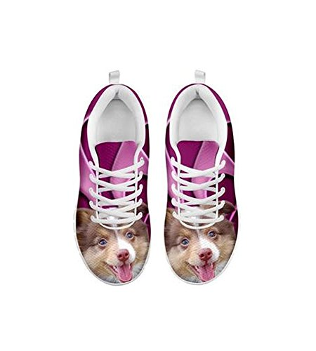 Casual Print Cute Running Shoes Australian Miniature Women's Shepherd HvnC6qw
