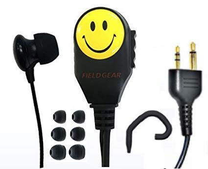 [해외]모토로라 MOTOROLA ヤエス YAESU 2 핀 용 2WAY 운하 식 웃는 딸린 이어폰 첨부 클립 마이크 송수신 용 MS-50 MS-80 FTH-50 FTH-80 용 JSPRN0001 JSPRN0002 JSPRN0003 JSPMN0001 양립 이어폰 스페어 적재 스마일 / Motorola Motorola Yaes Yaesu 2 pi...