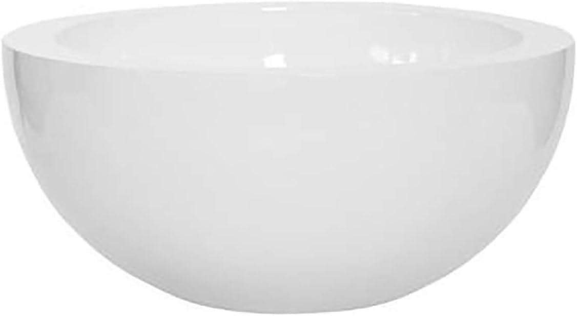 Elegant White Shiny Round Bowl – Sunny Large Round Bowl 11 H x 23.5 W By Pottery Pots