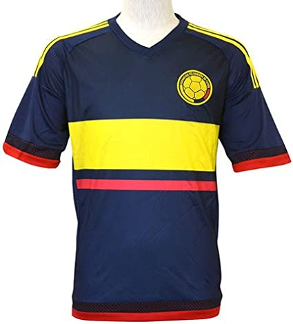 Azul marino de la selección nacional de Colombia Soccer Camisetas 100% poliéster Fútbol: Amazon.es: Deportes y aire libre
