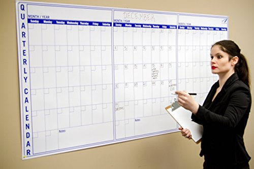 Amazon Com Large Dry Erase Wall Calendar 3 Month 36 X 72 Big