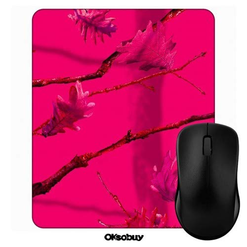 (Hot Pink Love Twig Camo Mouse Pad Oksobuy Custom Design,European City Landscape Mouse pad Gaming Mousepad Nonslip Rubber Backing)