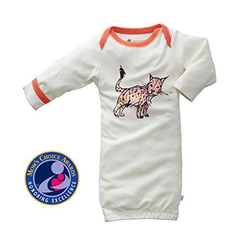 1 Lynx (Babysoy Organic Jane Goodall Endangered Animal Print Long Sleeve Bundler/Gown/Sleepsack Lynx 0-3 Months)