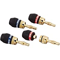 Monster Cable QL GMT-H MKIII EFS QuickLock MKII Gold Banana Connectors for Easy Self Crimping Terminations:  Corrosion-Resistant 24K Gold-Plated Connectors