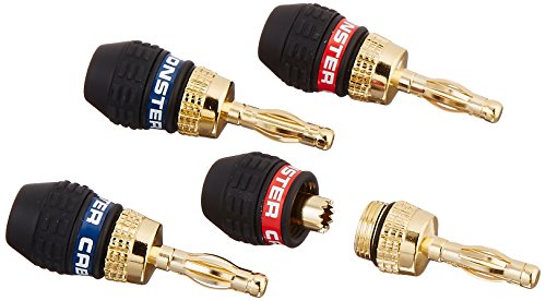 Monster Cable QL GMT-H MKIII EFS QuickLock MKII Gold Banana Connectors for Easy Self Crimping Terminations