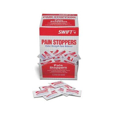 2 Pack Pain Stoppers Extra Strength Pain Reliever (250 Packs Per Box, 6 Boxes Per Case) ()