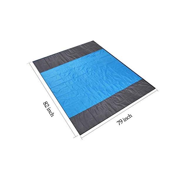 MILIER Coperta da Spiaggia Coperta da Picnic Impermeabile Tappetino da Picnic Resistente alla Sabbia con Ancora per… 6 spesavip