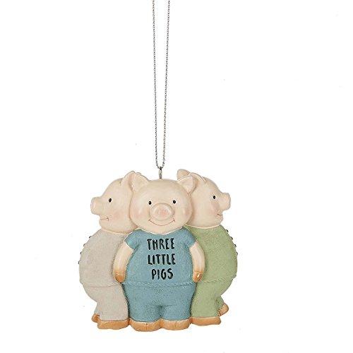 Three Little Pigs Nursery Rhyme 2.5 x 2.5 Inch Christmas Ornament -