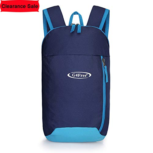 G4Free Outdoor Small Mini Backpack Daypack Bookbags 10L for Kids & Adults(Dark Blue)