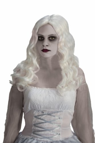Lady White Costume Ghost (Forum Novelties Women's Spirited Ghost Costume Wig, White, One)