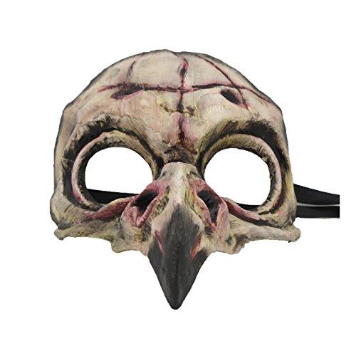 (Largemouth Men's Bird Skull Mask (Pink) )