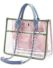 LOVEVOOK Transparent Bags for Women Handbag Clear Bag Stylish