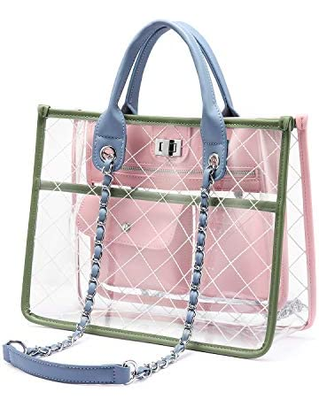 fbba7bbe1b5 LOVEVOOK Transparent Bags for Women Handbag Clear Bag Stylish