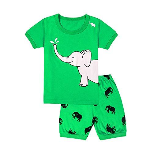 31d78e95ca Qtake Fashion Boys Pajamas Elephant Children Clothes Set 100% Cotton Little Kids  Pjs Sleepwear