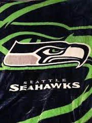 NFL Football Seattle Seahawks King Raschel Mink Plush Blanket by Seattle Seahawks (Seahawks Blanket King)