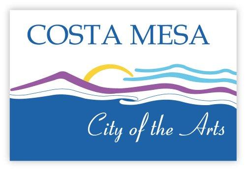 "Costa Mesa city flag California sticker decal 5"" x 3"""