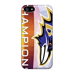 Great Hard Phone Case For Iphone 5/5s With Provide Private Custom Lifelike Baltimore Ravens Pattern DannyLCHEUNG