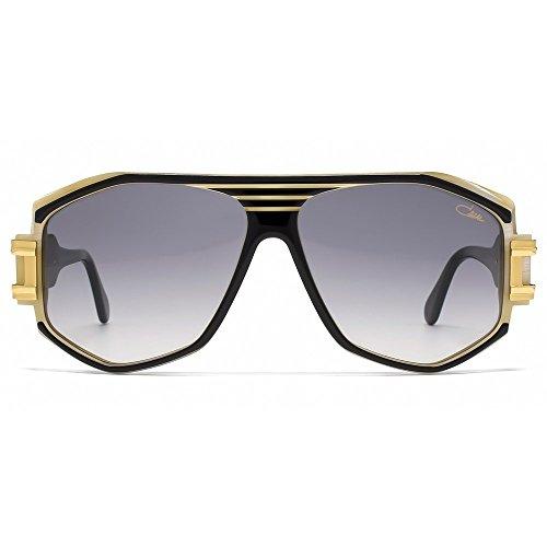 Cazal Legends 163 Aviator Sunglasses in Black Gold Ivory 163/3 095 59 (Cazal 163)