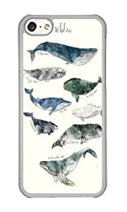 Apple Iphone 5C Case,WENJORS Unique Whales Hard Case Protective Shell Cell Phone Cover For Apple Iphone 5C - PC Transparent