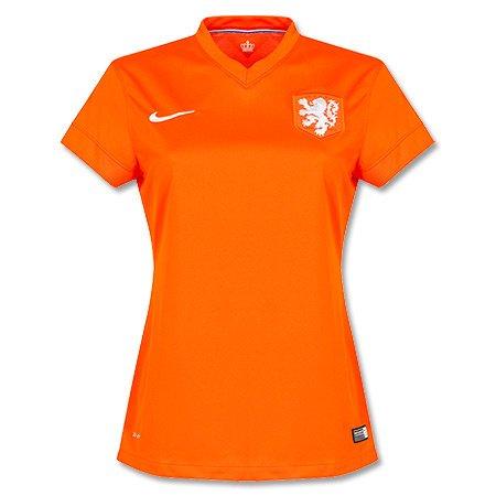 Nike Netherlands Home Stadium Jersey World Cup 2014 (Safety Orange) (XL)