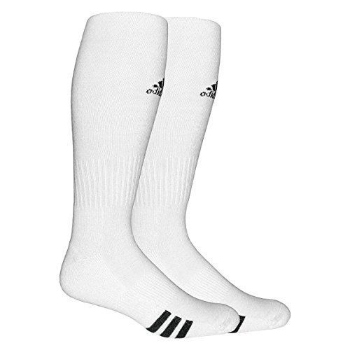 adidas Unisex Rivalry Soccer 2-Pack Otc sock, White/black, Large (Adidas Football Socks compare prices)