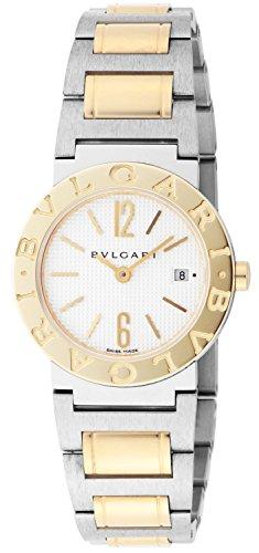 BVLGARI White Dial K18YG / Stainless Steel Case /Belt Date Women Watch BB26WSGD