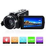 Digital Video Camera Camcorder Full HD 1080P 24MP Digital Camera Recorder with 3.0 Inch IPS Screen 16X Digital Zoom Camcorders for Youtuber Vlogger Beginner
