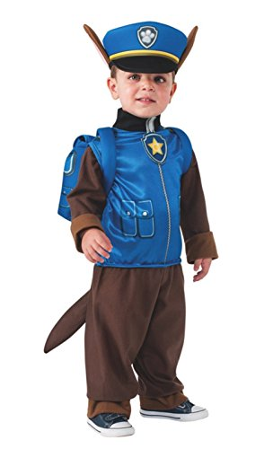 [Paw Patrol Chase Toddler Costume, Small (4-6) Child Size] (Pup Patrol Costume)