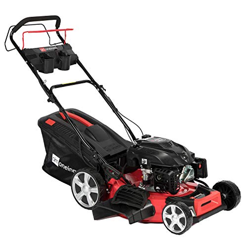 oneinmil Self Propelled Lawn Mower – RV175 173.9cc Gas 21″. 4-in-1 Rear Wheel Drive Self Propel Gas Lawn Mower