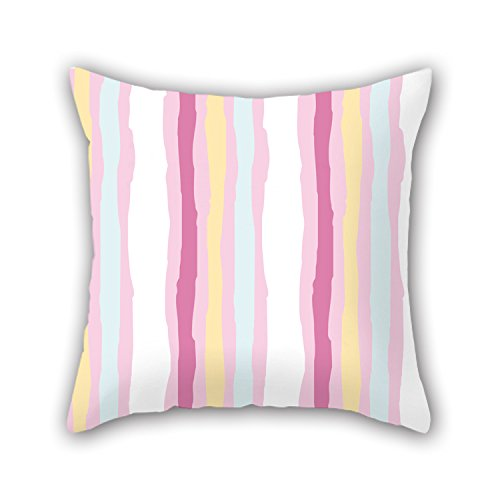 NICEPLW 20 X 20 Inches / 50 By 50 Cm Stripe Throw Pillow Covers,twin Sides Is Fit For Study Room,lover,floor,home Office,dinning Room