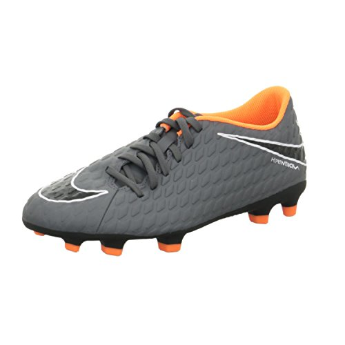 Nike Men's Hypervenom Phantom III Club Fg Footbal Shoes Grey (Dark Grey/Total Orange 081) QbwzZ4w