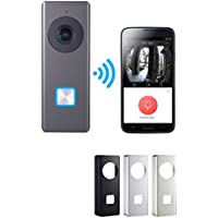 Nellys Security 32GB 1080p Wifi Video Doorbell Camera Onvif Compatible, Includes 4 Faceplates