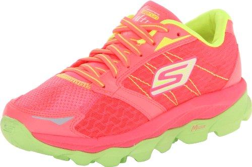 Skechers Performance Women's Go Run Ultra Running Shoe,Hot Pink/Lime,9.5 M US