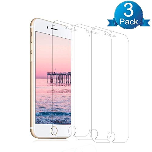 [3 Pack] iPhone8/7/6S and iPhone6 Glass Screen Protector, LivePedal Tempered Glass Screen Protector [No Bubbles] for Apple iPhone 8, 7, 6S and 6.[4.7 inch]