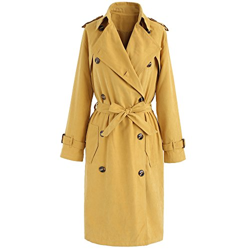 Double Breasted Long Sleeve Coat - 5