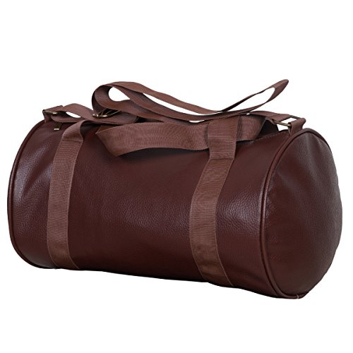 Dee Mannequin Leather Soft Gym Bag  Brown