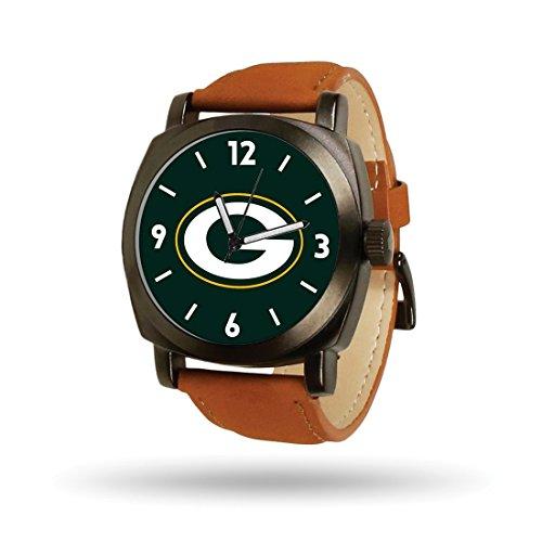 NFL Green Bay Packers Football Logo Cheer Quartz Watch Brown