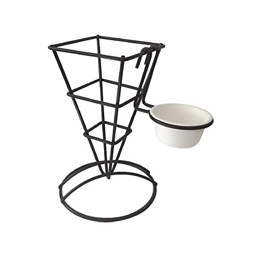 Packnwood PK294CONE6C Fry & Appetizer Cone with Integrated Ramekin Holder, 3.6 x 2.7 x 5.1 (Pack of 6)