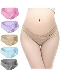 Women's Under The Bump Cotton Maternity Hipsters Panties...