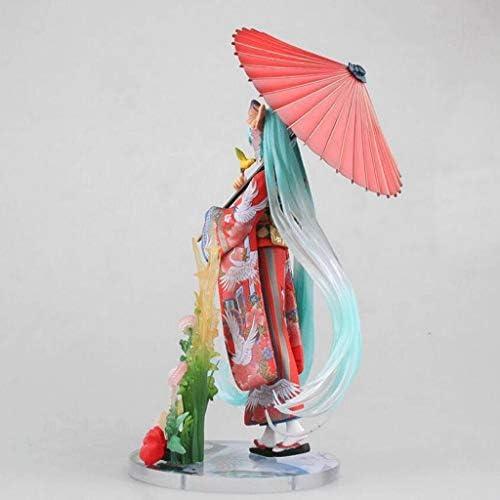 LLFX Hatsune Miku Aktion Figrue Virtual Singer Anime Figuren Kimono-Puppe PVC Sammlerstück Spielzeug-Kind-Geschenk-Spielwaren for Boys