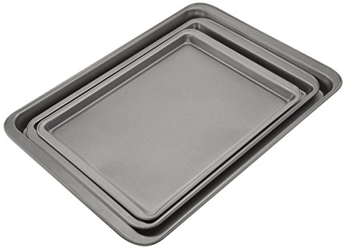 AmazonBasics 3-Piece Nonstick Baking Sheet Set by AmazonBasics (Image #2)