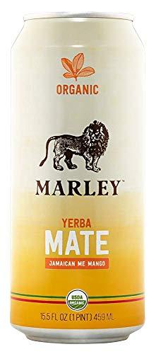 Marley Yerba Mate Organic Tea 15.5 Oz Cans - Pack of 12 (Jamaican Me Mango, Pack of 12)