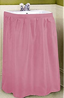 New Fabric Sink Skirt   Rose Pink By Better Home
