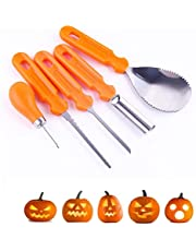 Pumpkin Carving Set, 5 Pieces Stainless Steel Professional Carving Knife For Halloween Pumpkin Party, Pumpkin Cutting Tools
