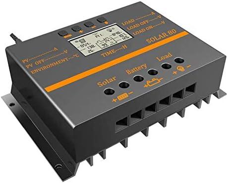 PSOIHGTFS 80A Solar Panel Laderegler 12V 24V Auto LCD USB Solar-Ladegerät High Efficiency Solar80 PWM-Regler