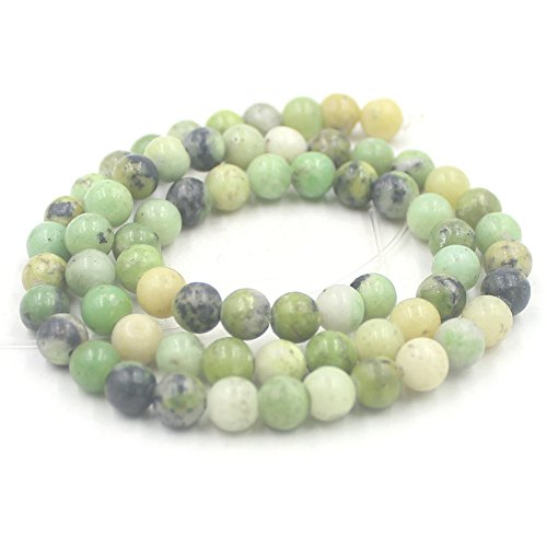 SR BGSJ Jewelry Making Craft Natural 6mm Round Green Serpentine Beads Gemstone Spacer Loose Beads Strand 15""